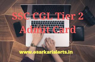 SSC CGL Tier 2 Admit Card 2017