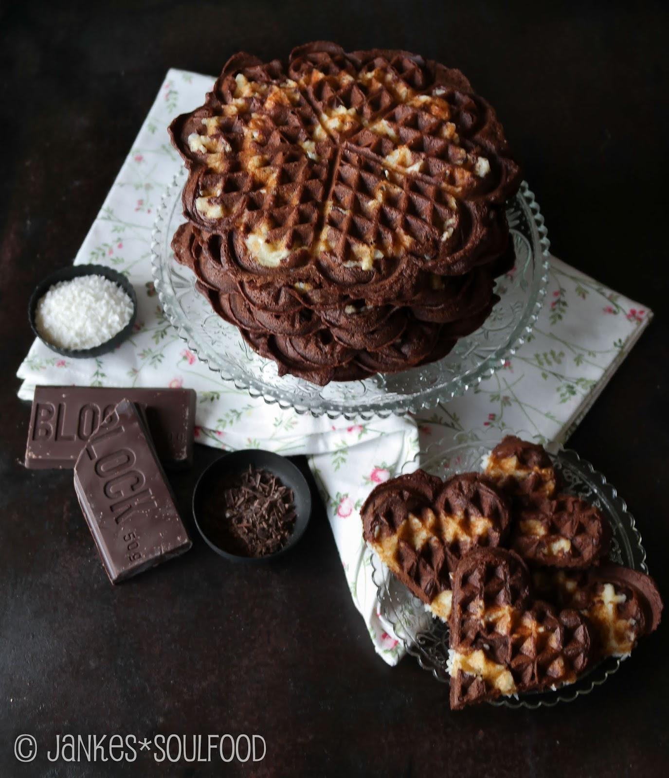 Schokoladenwaffeln mit Kokos