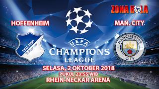 Prediksi Bola Hoffenheim vs Manchester City 2 Oktober 2018