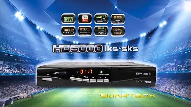 SMARTBOX 5000 HD NOVA ATUALIZAÇÃO MODIFICADA KEYS 58W - 16/08/2016