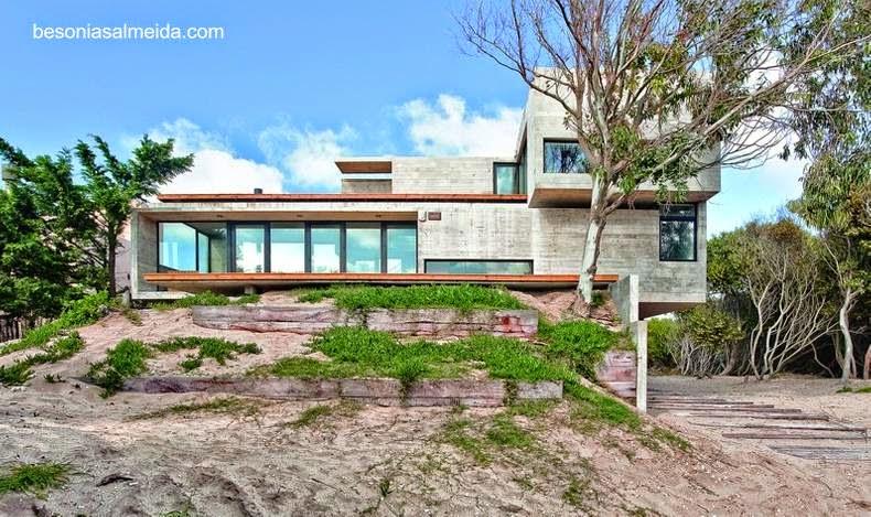 Casa de playa estilo Minimalista de hormigón armado, Mar Azul, Buenos Aires, Argentina