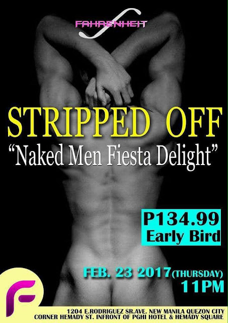 Daily Gay Guide: Stripped Off at Fahrenheit Cafe