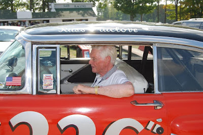 Russ in the driver's seat at the Elkhart Lake Vintage Festival in Sept. 2009.