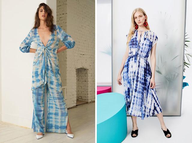 Комбинезон и платье с принтом tie-dye