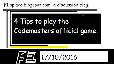 4 Tips to play F1 Official Game By Codemasters (Noobs Edition)