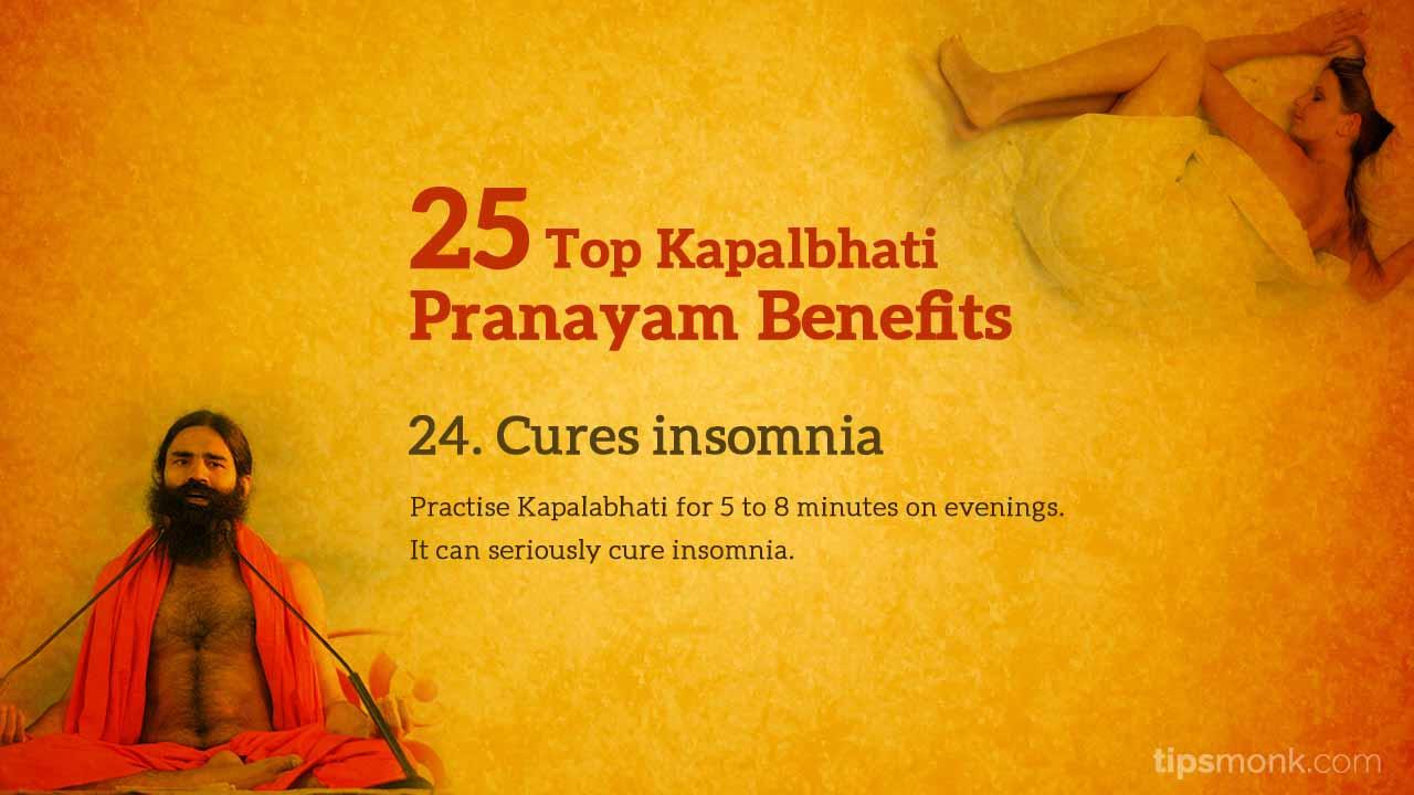 Kapalbhati pranayam benefits - insomnia, mindfullness