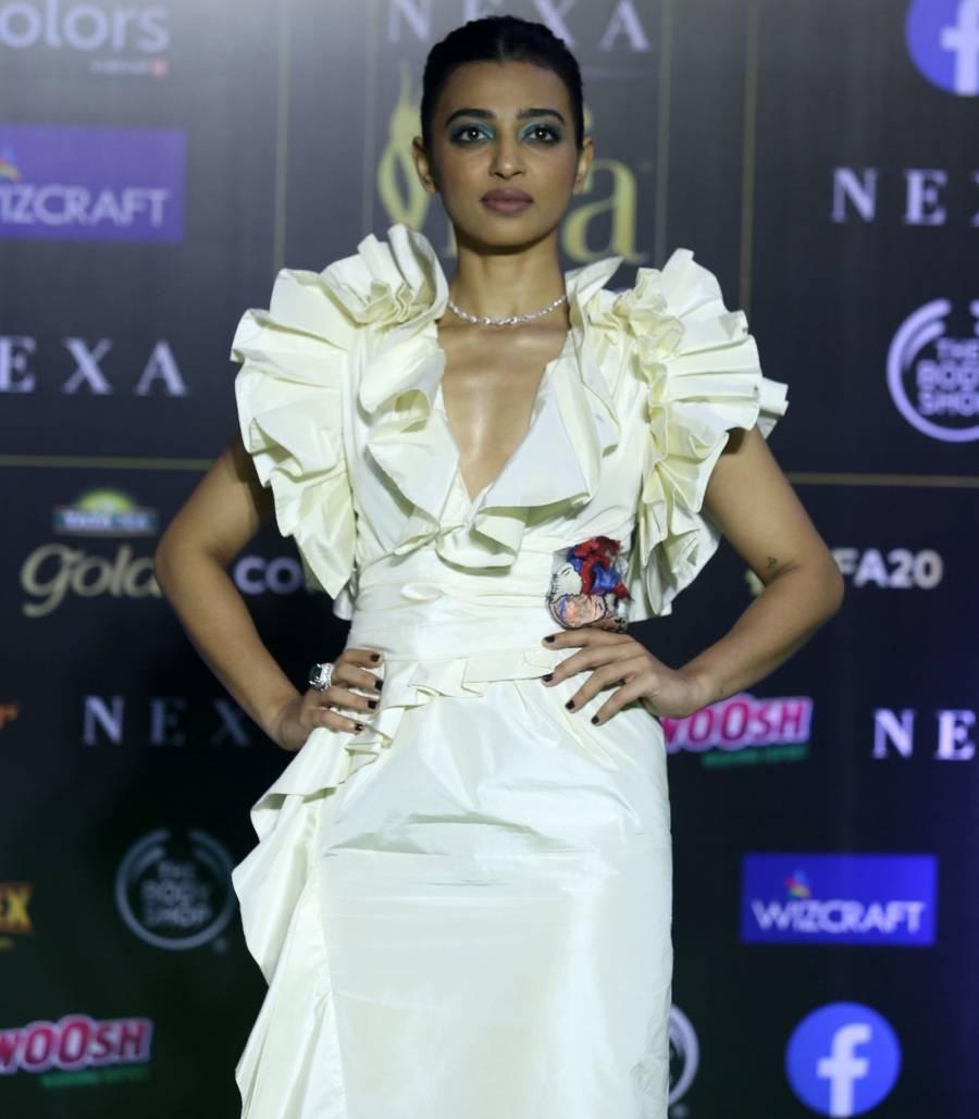 Indian Model Radhika Apte At Green Carpet Of IIFA Awards