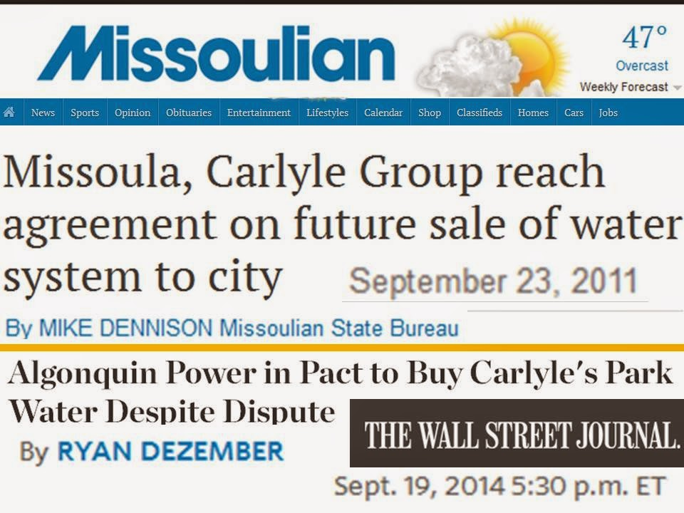 PEU Report: Apple Valley, Call Missoula re: Carlyle's Greed