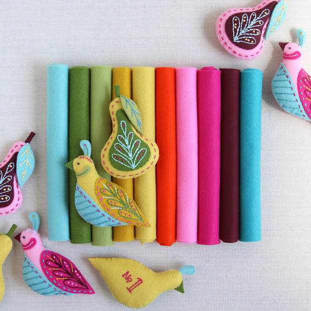 Mmmcrafts Curated Felt Color Collection Swan