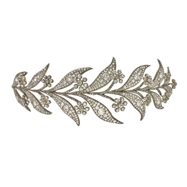 Image showing the diamond tiara worn in Downton Abbey by Lady Mary when she married Matthew Crawley