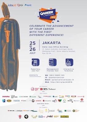 Flyer Event Job Fair Qareer Carnival 2018 di Jakarta