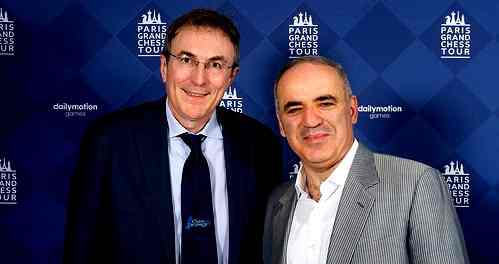 Philippe Dornbusch et le charismatique champion du monde d'échecs Garry Kasparov - Photo  © Chess & Strategy