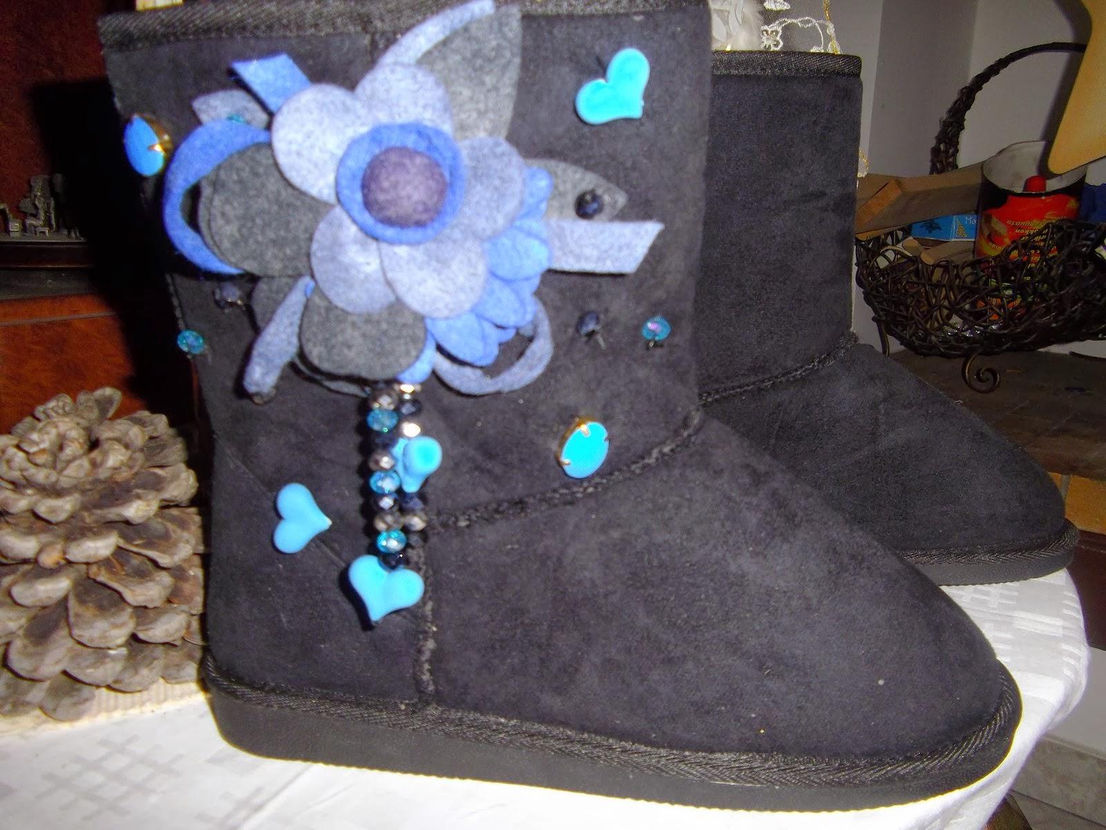 74937fc6462 Amanda's Handmade Creations: Γυναικείες μπότες τύπου Ugg ...