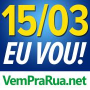 vem pra rua protestar azul contra Dilma e o Pt