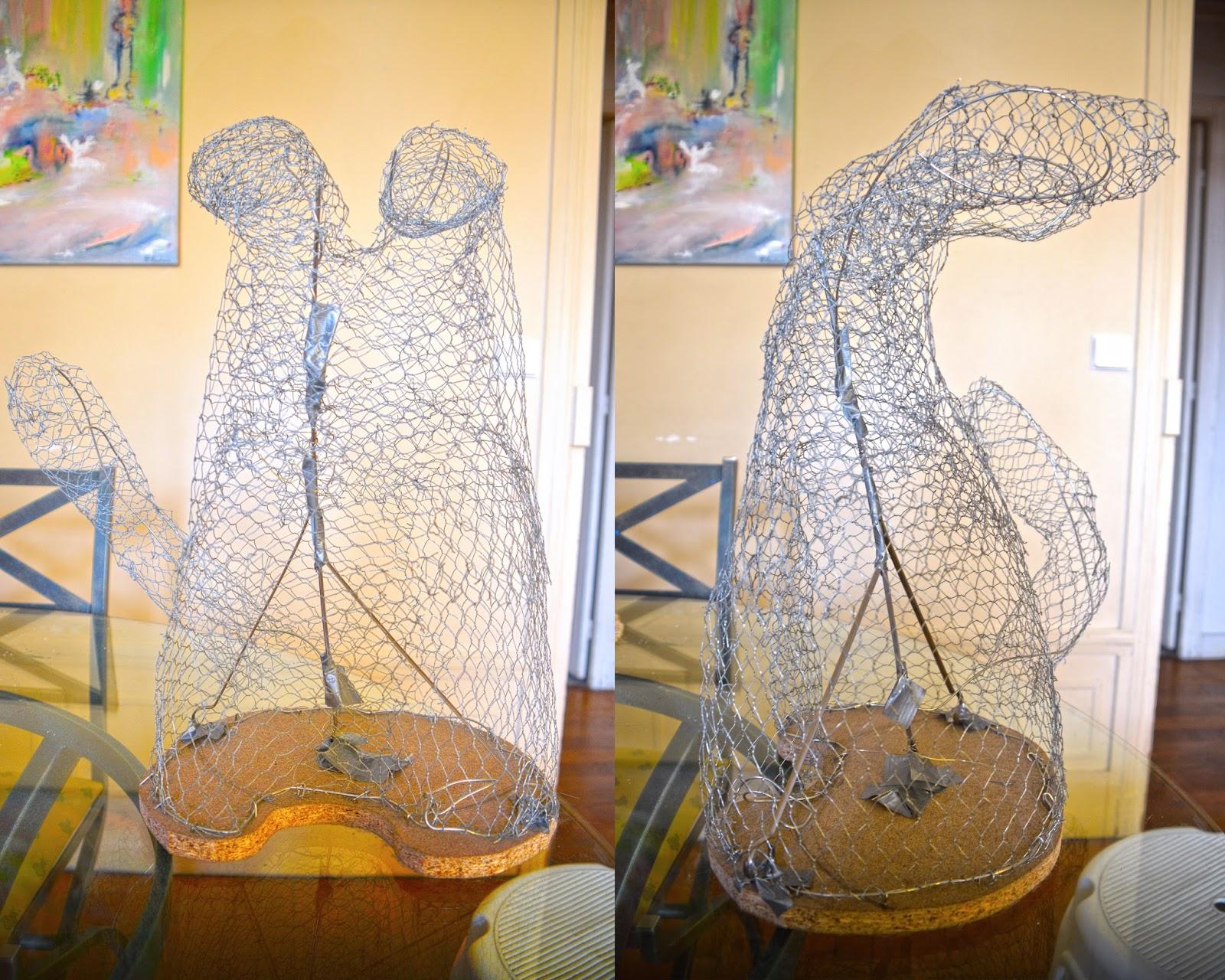 Sculpture Grillage A Poule les lapichoogus: sculpture en construction