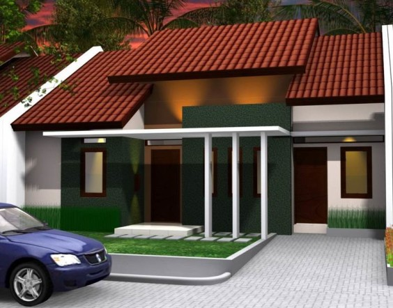 Desain Rumah Minimalis Modern Type 36 Tampak Depan