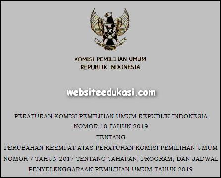 PKPU Nomor 10 Tahun 2019