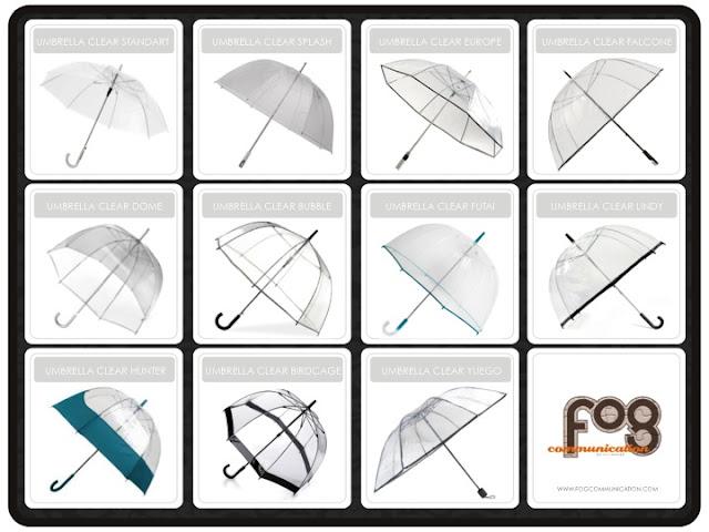 Souvenir Promosi Payung Transparan