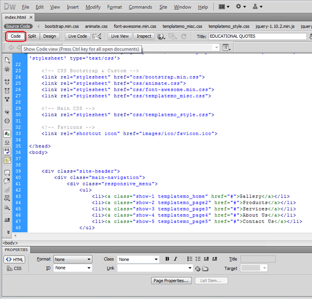 how to create a website using dreamweaver cs5