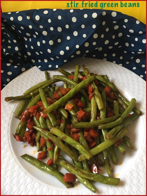 Spicy & Garlicky Green Beans