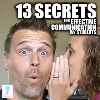 Today, we're going to walk through the 13 Secrets for Effective Communication in the Classroom. Even the most expert teacher has difficult moments trying to communicate effectively with students. We're super grateful for Roger and Becky Tirabassi's Secrets for Effective Communication that we've adapted to the teaching world. They totally shine a light on some simple but powerful tools. So here we go!
