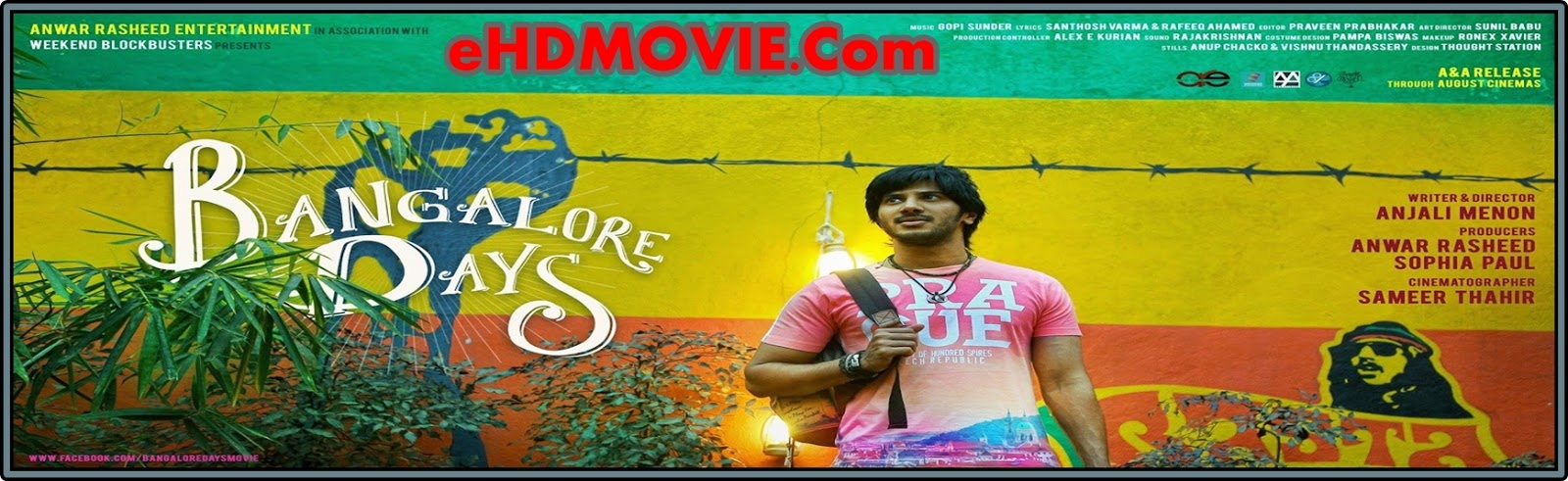 Bangalore Days 2014 Full Movie Malayalam 720p - 480p ORG BRRip 350MB - 1GB ESubs Free Download
