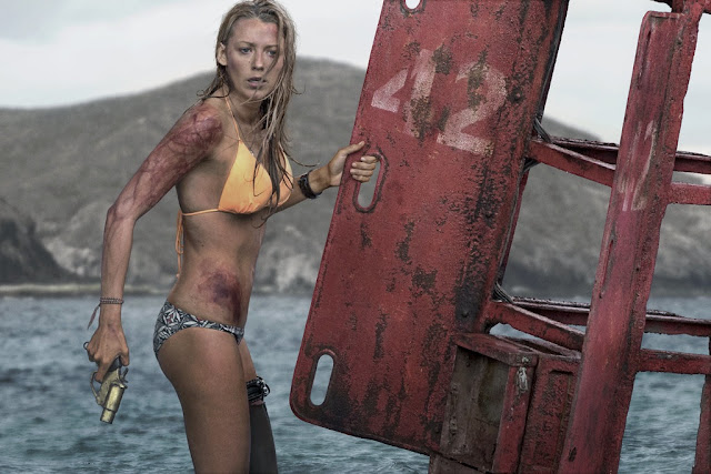 "Blake Lively takes on a shark in ""The Shallows"""