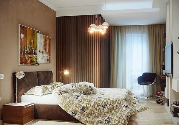 Minimalist Bedroom Design with Wall Stripes   Exclusive ...