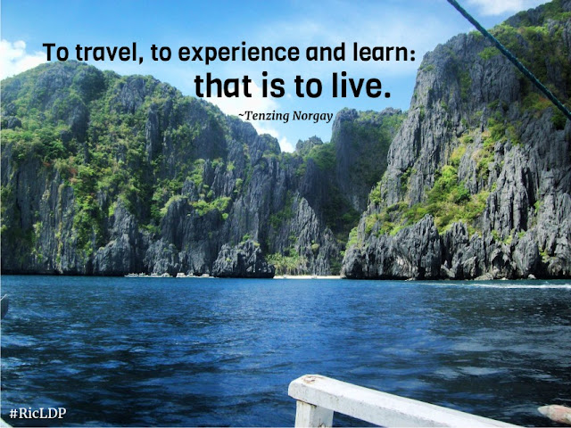 To travel to expereince and learn El Nido Palawan