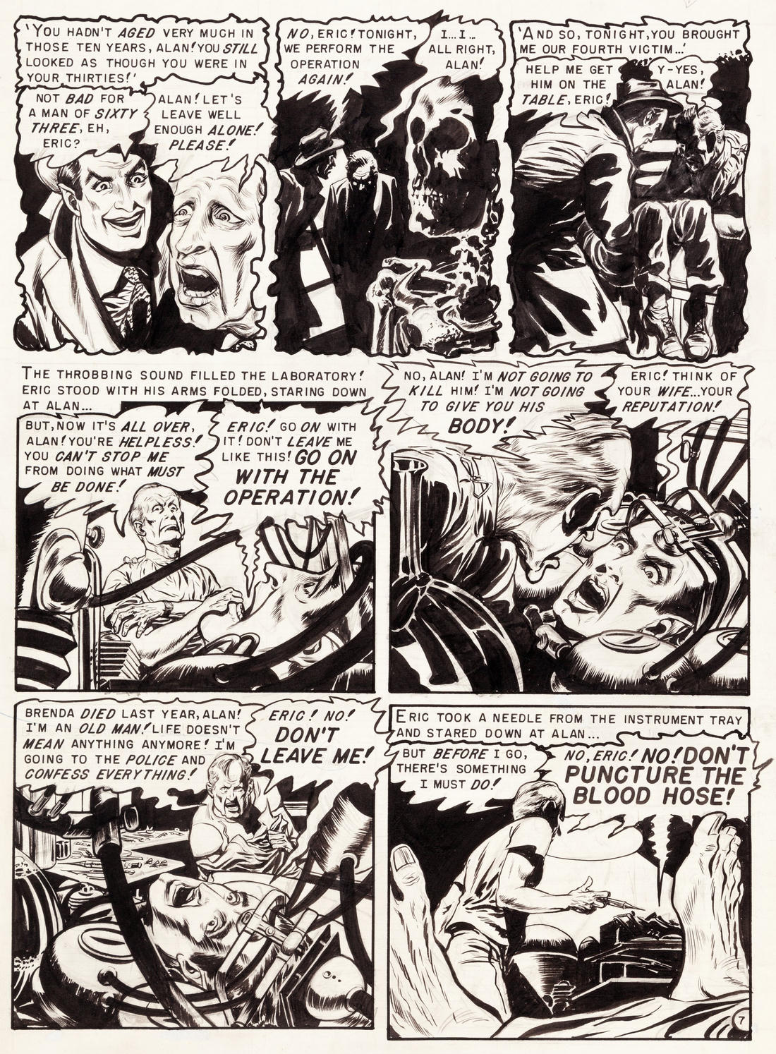 pappy s golden age comics blogzine number ghastly s real in the case of nobody there from haunt of fear 16 1952 these are scans of the original art i am posting grateful approbation to heritage