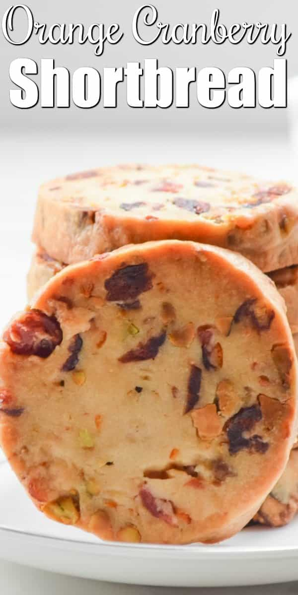 Cranberry Orange Shortbread Cookies are so tender! A favorite cookie recipe for Christmas from Serena Bakes Simply From Scratch.