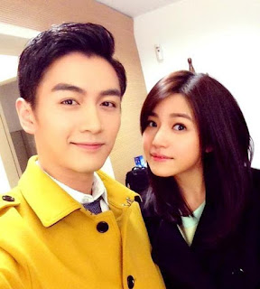 Cute couple shot of Michelle Chen (1983) and Chen Xiao (1987)
