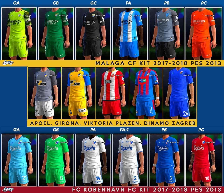 Ultigamerz: PES 2013 Kits 2017-2018 Update 5.10.2017