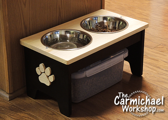 the carmichael workshop dog food bowl stand