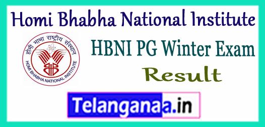 HBNI Homi Bhabha National Institute 1st 3rd Semester Winter Exam Result 2017
