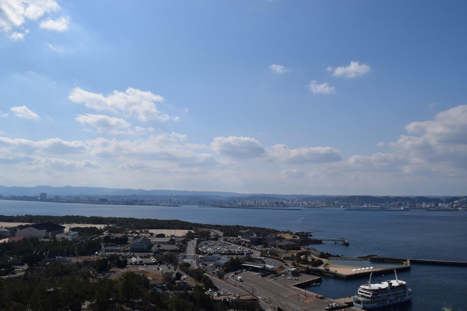 View of Kagoshima from Sakurajima