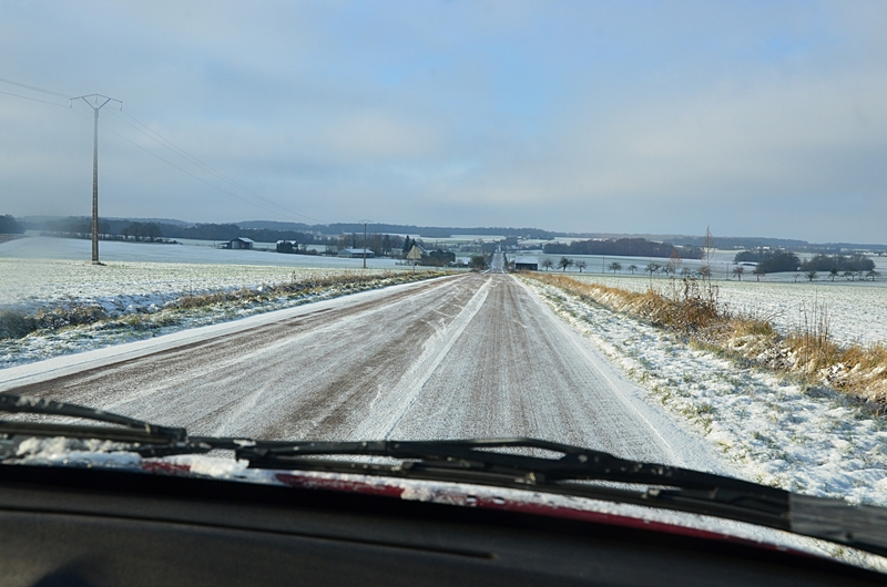 Route Neige Campagne Puisaye Yonne