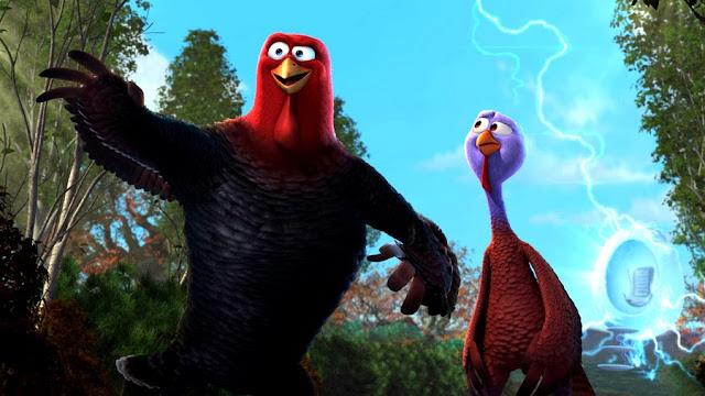 Reggie (Owen Wilson) și Jake (Woody Harrelson) în animaţia Free Birds
