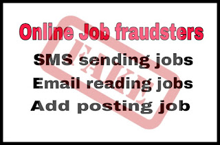 Online job fraudsters - beware of sms sending , email reading and Add posting jobs