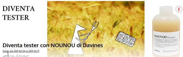 clicca qui per candidarti come tester dello shampoo nounou di Davines