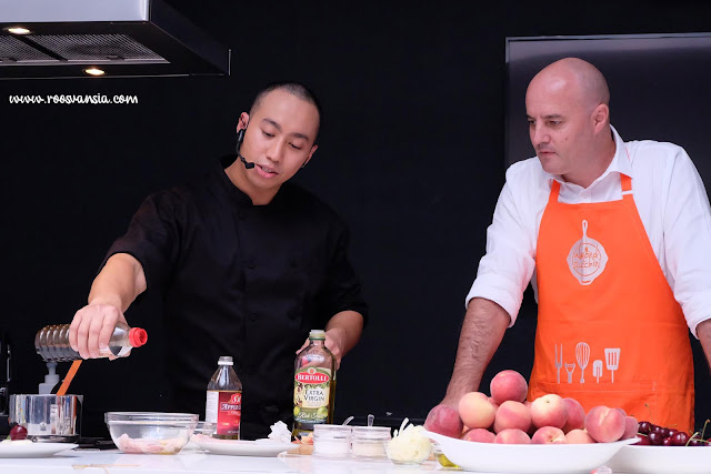 chef yuda bustara; victorian government; show cooking; cherry australia; summer fruit australia; brett stevens