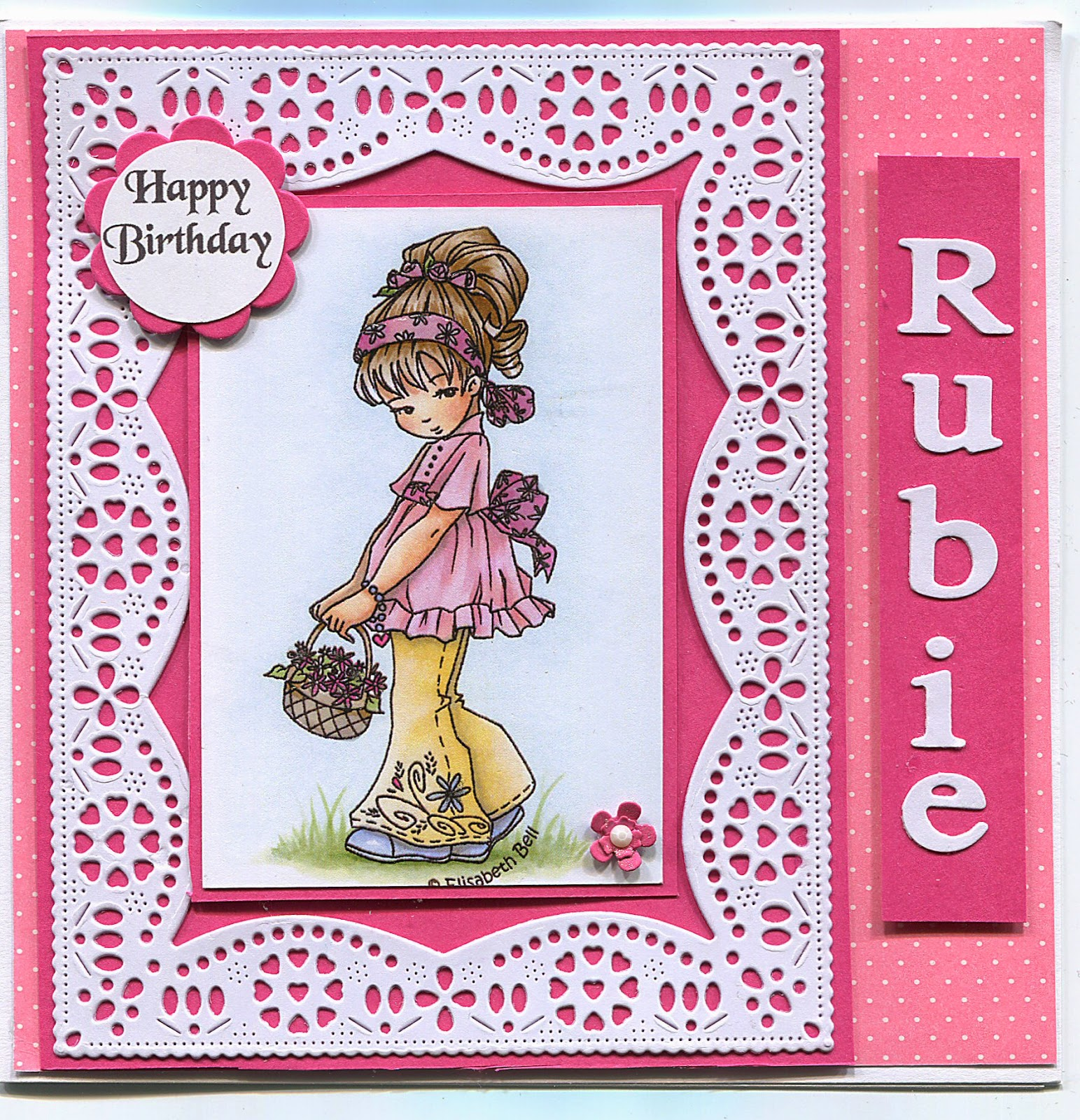 stamps and paper happy birthday rubie