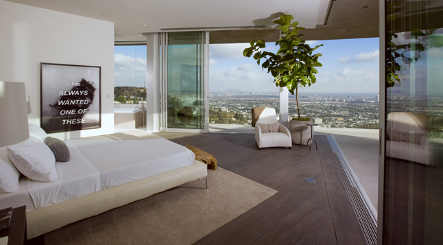 Photo of another large bedroom with the view of Los Angeles