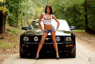 Ford Mustang Girl  HD Wallpaper