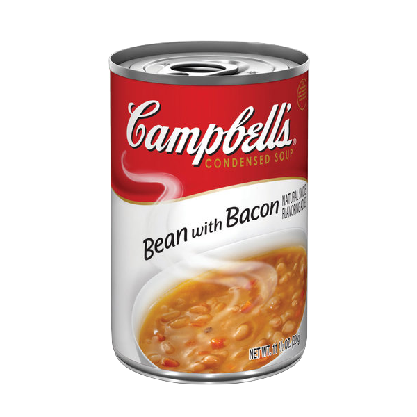 a can of Campbell's Bean with Bacon soup