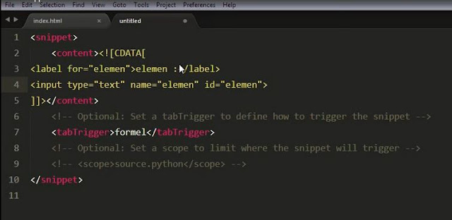 Lupacode - Tutorial Sublime text Snippet 7