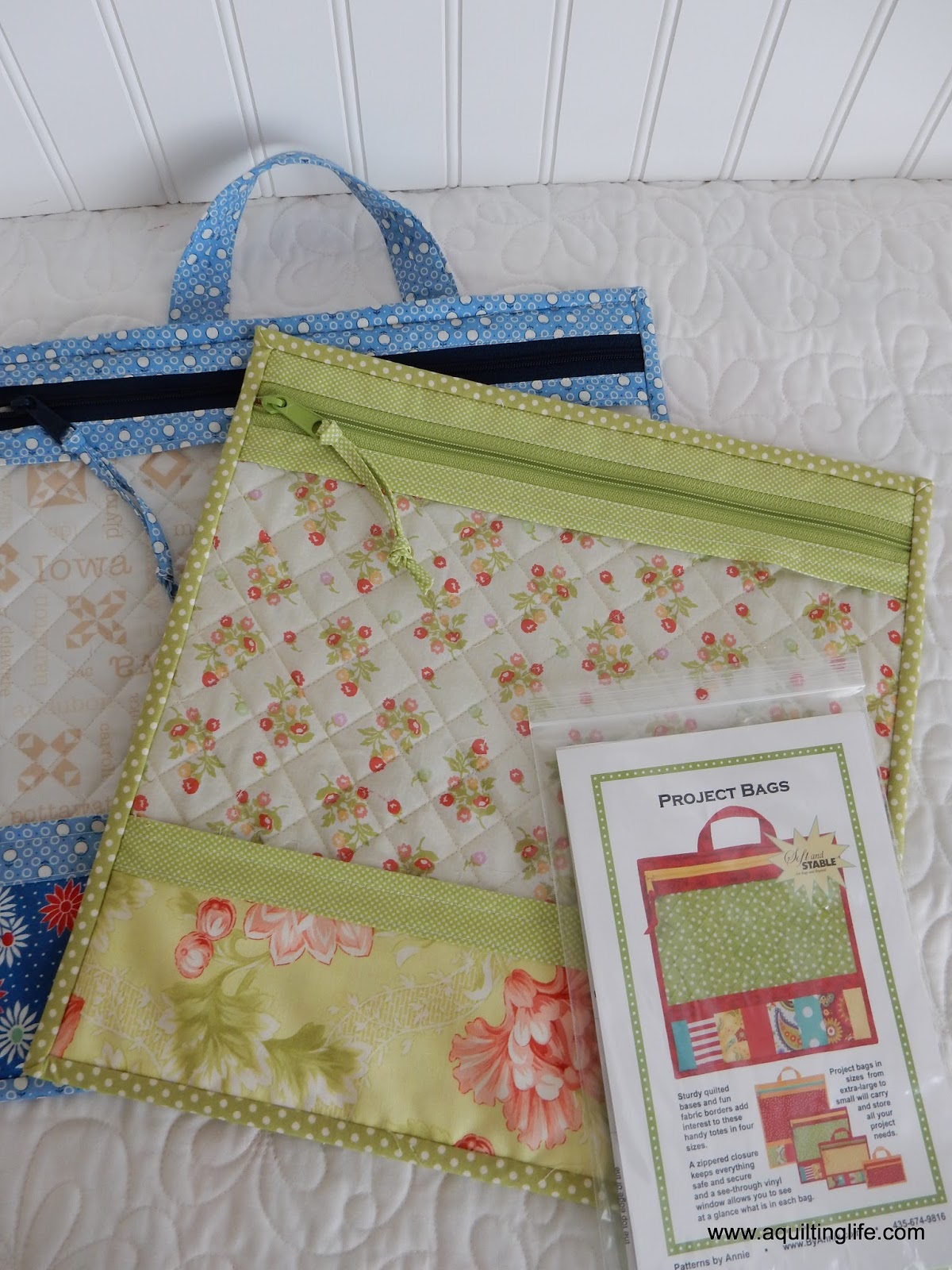 Sewing Project Fabric Basket Tutorial: Christmas Sewing...Project Bags
