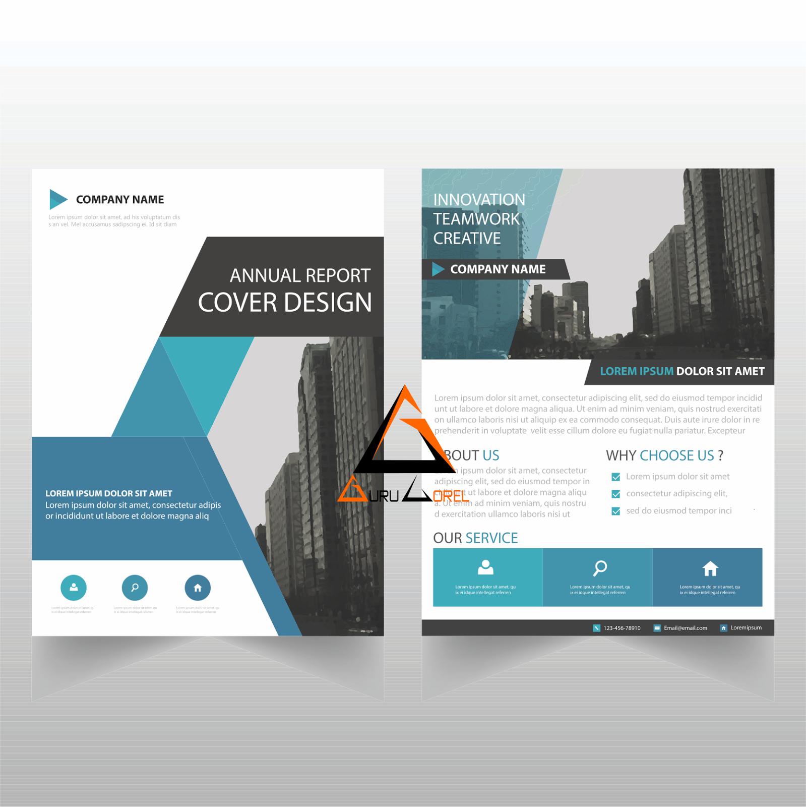 The Best Free Downloads Online: Download Vector Brosur Bisnis Keren - CorelDraw