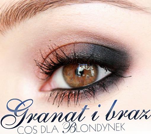 Alina Rose Blog Kosmetyczny Makijaż Dla Blondynek Granat Z Brązem