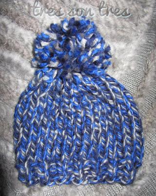 knit, gorro, pom-pom, dos agujas,